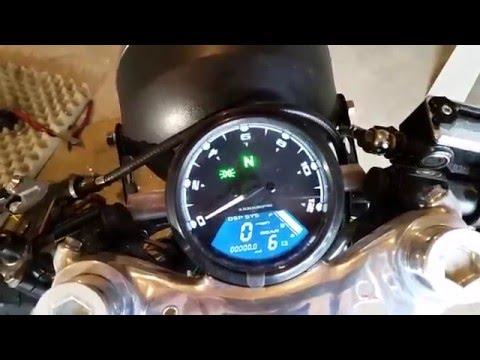 Universal digital motorcycle speedometer.