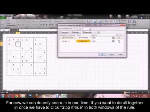 [ENG SUB] How to create Sudoku by Microsoft Excel  sec11