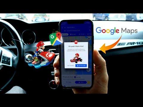 Use Mario kart in Google Maps