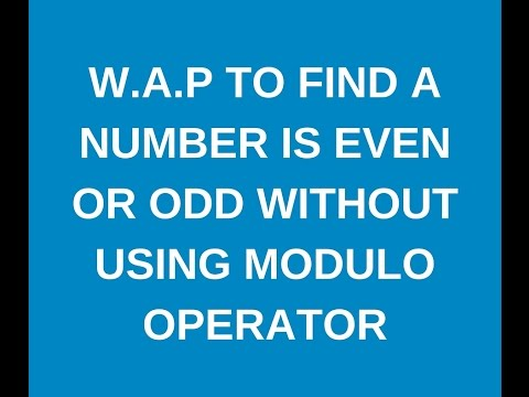 Write a java program to check whether a given number is even or odd without using modulus operator