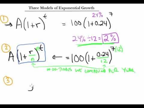 Algebra Lesson #5 Homework Help / Math Lab: Exponential Growth II