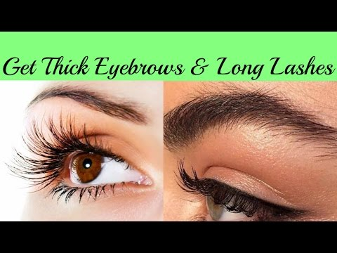 How to Get Thick Eyebrows and Long Lashes || Naturally & Fast at Home