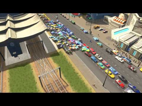 Cities Skylines Nightmare Traffic Jam