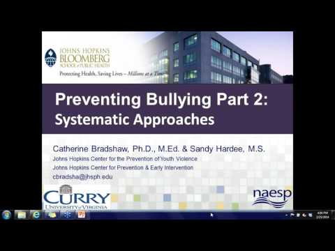 Preventing Bullying Part 2:  Systematic Approaches