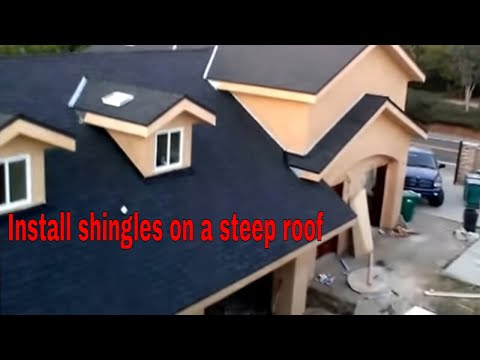 Steep roof tips and tricks installation.