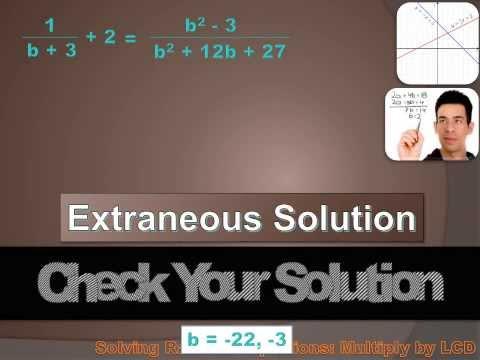 Algebra 1 - Solving Rational Equations