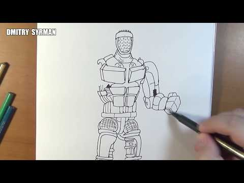 Speed drawing robot Atom, Real Steel