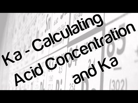 Ka - Calculating acid concentration and Ka