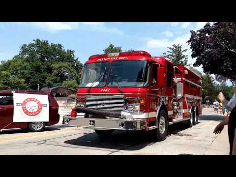 Fire trucks in the 4th of July Parade!