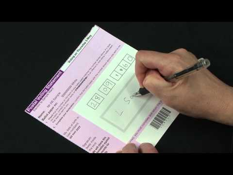 How to complete your Postal Vote - 2 May 2013 Election