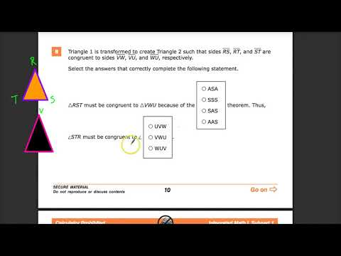 Question 8 -  Integrated Math 1  - TNReady Practice Test