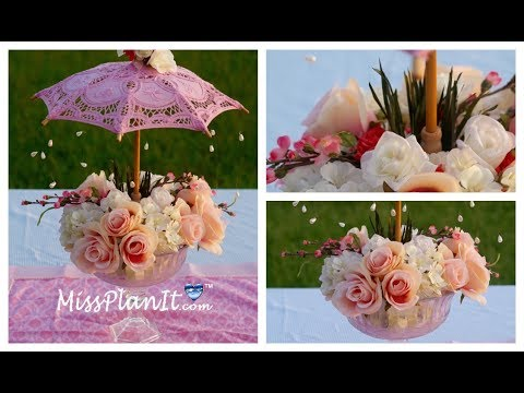 Baby Shower Centerpiece / DIY / How to Create This Garden Party Baby Shower Centerpiece