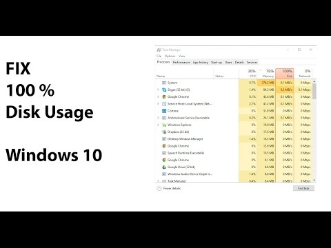 100 percent disk usage windows 10 fix