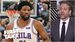 76ers 'insane' to let Joel Embiid play with back injury – Max Kellerman   First Take