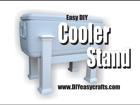 Easy DIY Cooler Stand how to video