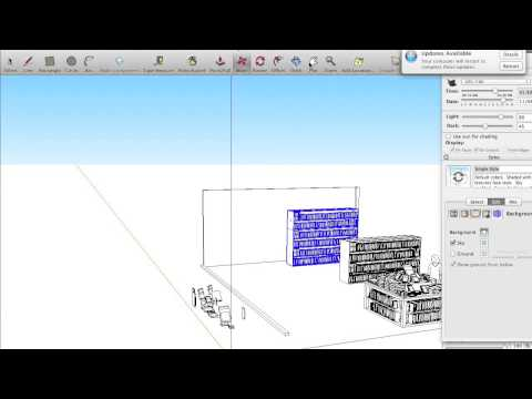 Creating a bookstore for a comic background in Sketchup