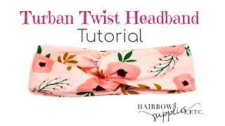 Download Twist Turban Headband Tutorial - DIY Baby Head Wrap - Hairbow Supplies, Etc. Video
