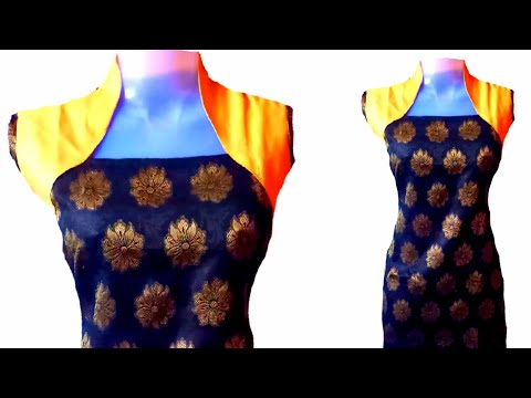 how to make designer dress with wastage clothes.