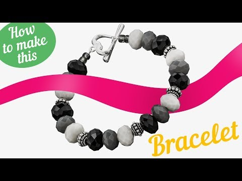 Faceted Simple Bracelet with 925 STS Toggle Review JD4/11