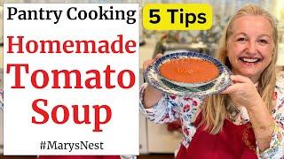 How to Make Homemade Tomato Soup - Easy Tomato Soup Recipe