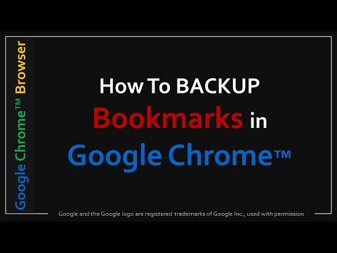 How to Backup Bookmarks in Google Chrome