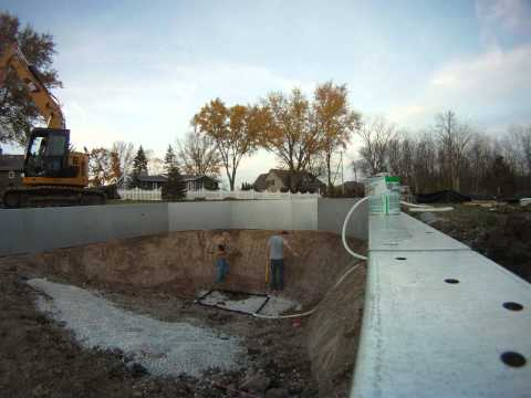 Inground Swimming Pool Sump System Install, Prevent Floating Liner