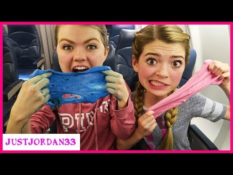 Making Slime On A Plane - What A Mess! / JustJordan33