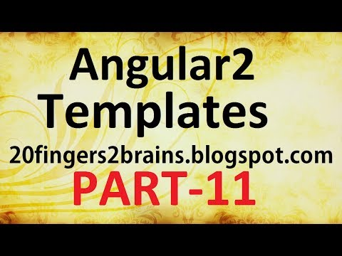 Angular 2 - Templates