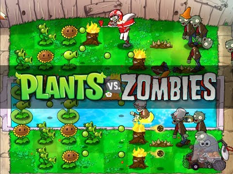 Plants Vs Zombies - Gameplay (Level 2-3) - HD (720p)