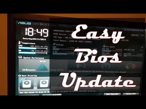 Easiest Way To Update Bios On An Asus MotherBoard!