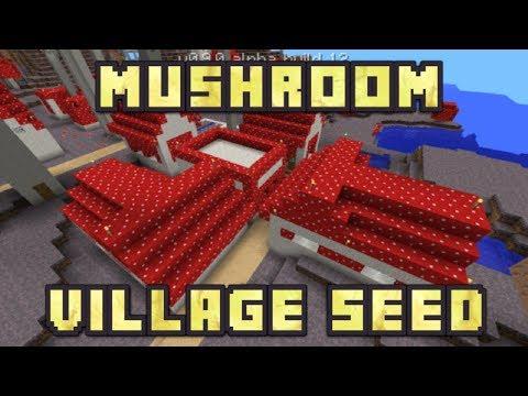 Minecraft PE - Mushroom Village Seed!