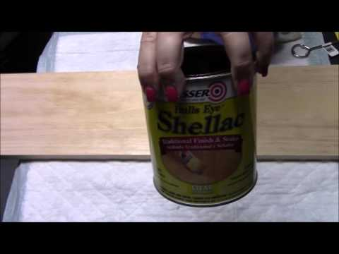 Using Shellac to cover a stain on your paint project
