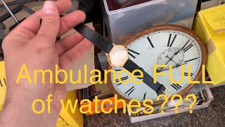 $2k Ambulance FULL of vintage watches & parts! what will I find!?!
