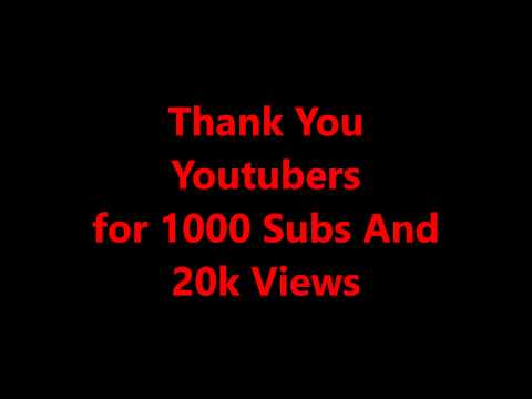Thank You Youtuber's