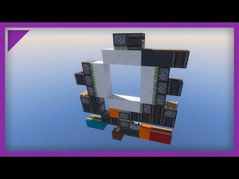 Minecraft: 1.12 1 wide 3x3 piston door [Tutorial]