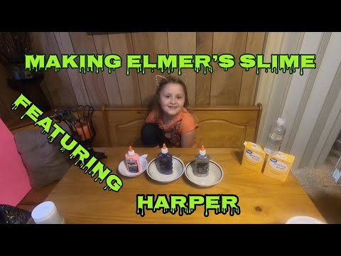 Making Elmer's Slime featuring HARPER