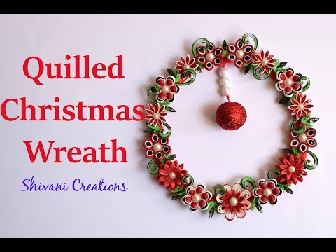 Quilling Christmas Wreath using Waste Cooker Ring/ Christmas Decoration/ Best from Waste