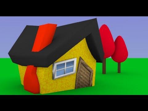Byteweiser Blender Tutorial #1d: Make a Low Poly Cartoon House (Adding a Lattice and Trees)