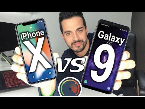 WHO'S FASTER? Samsung Galaxy S9 VS iPhone X - Speed Test