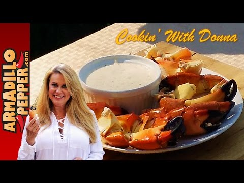 Stone Crab Claws with Key Lime Mustard Dipping Sauce