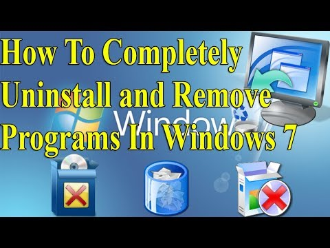 How To Completely Uninstall and Remove Any Programs In Windows 7  #Azmol Photoshop
