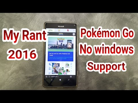 Windows Phone NO POKEMON GO APP | Where Is The Support !! 2016