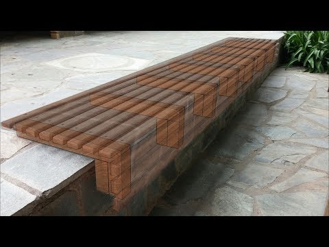 Outdoor Wooden Slat Bench Seat // How-To