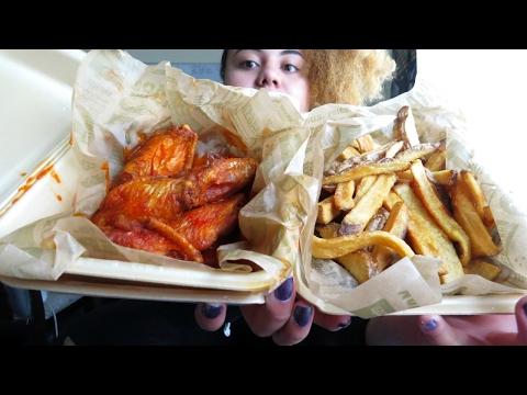 Hot Wings, Cheese Fries, and Carrots Mukbang