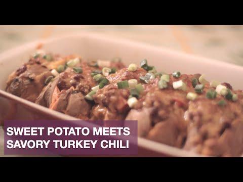 Slow Cooker Chili-Stuffed Sweet Potatoes