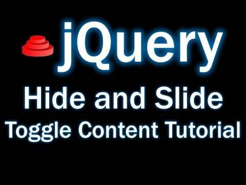 jQuery Tutorial - Animated Hide and Slide Toggle Content Into View