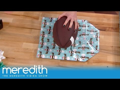 How To Wrap Oddly Shaped Gifts! | The Meredith Vieira Show
