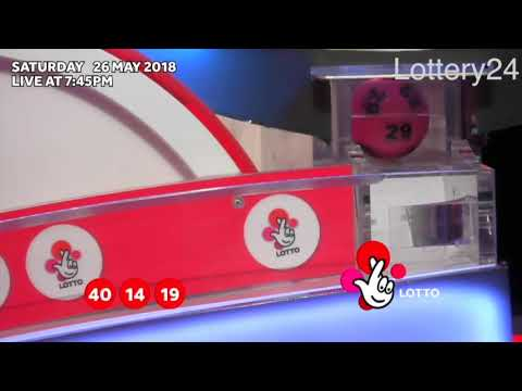 2018 05 26 UK lotto Numbers and draw results