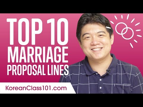 Learn the Top 10 Marriage Proposal Lines in Korean