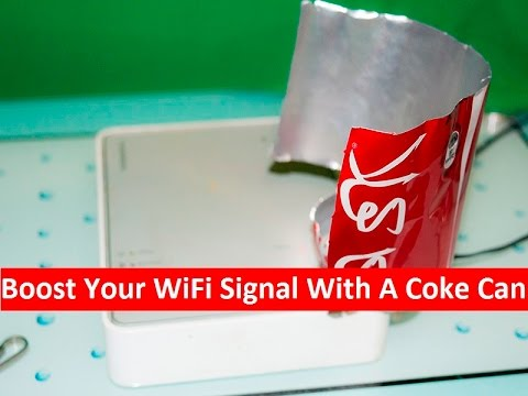 Boost Your WiFi Signal With A Coke Can (Life Hack)